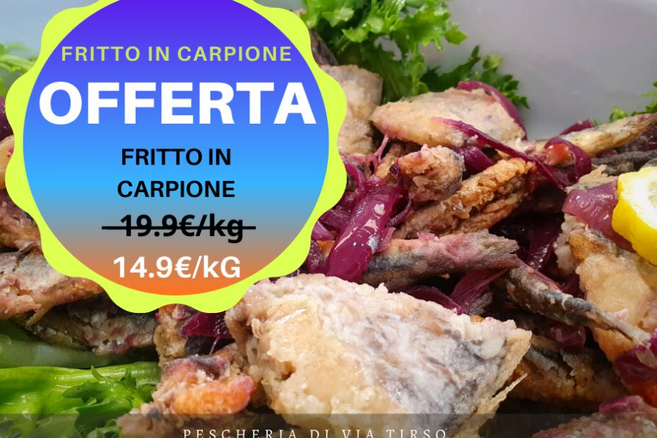 offerta fritto in carpione di pesce azzurro e cipolle caramellate